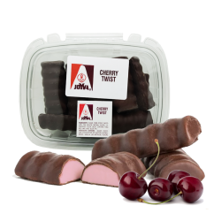 MARSHMALLOW TWIST CHERRY COVERED CHOCOLATE 1LB/10pc