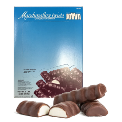 MARSHMALLOW TWIST VANILLA COVERED CHOCOLATE 5LB/1BX