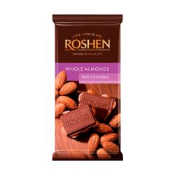 Milk chocolate with whole Almonds 90gr/21pc
