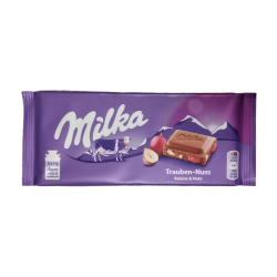 Milka with raisins and nuts  100gr/22pc