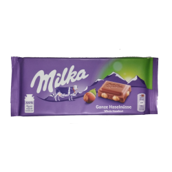 Milka with whole nuts 100gr/17pc