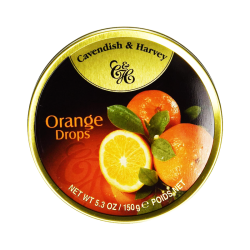 Candies drops tin ORANGE 5.3OZ/12PC