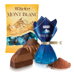 """Monblanc"" Chocolate candy Three Layers NUT praline (blue) 8.81LB/4kg LOOSE"