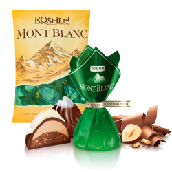 """Monblanc"" Chocolate candy w/hazeln. (Green) 8.8LB/4kg LOOSE"