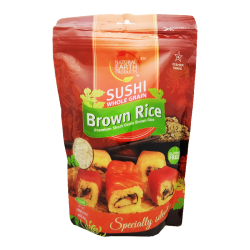 """NATURAL EARTH"" BROWN SUSHI RICE 16OZ/12PC"