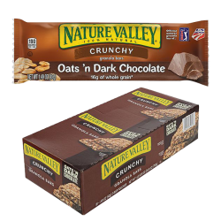 """NATURAL VALLEY"" CRUNCHY BARS OATS & DARK CHOCOLATE 1.49OZ/18PC"