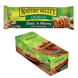 """NATURAL VALLEY"" CRUNCHY BARS OATS AND HONEY 1.49OZ/28PC"