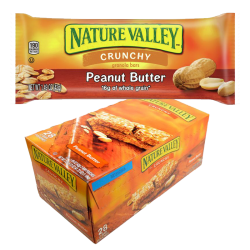 """NATURAL VALLEY"" CRUNCHY BARS PEANUT BUTTER 1.49OZ/28PC"