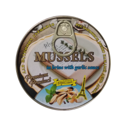 """PROLIV"" Mussels in garlic sauce EASY OPEN 185gr/24pc"