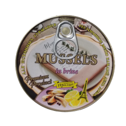 """PROLIV"" Mussels natural EASY OPEN 185gr/24pc"