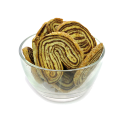 Puff pastry palmier cookies w/Cinnamon (USHKI) 350gr/9pc