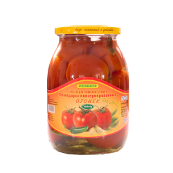 "Red Tomatoes ""Ogonek"" With Hot Pepper  1lt/6pc"