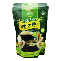 """NATURAL EARTH"" WHITE SUSHI RICE 16OZ/12PC"