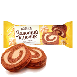 """Roshen"" Biscuit ROLL ""Golden Key""  180g/14pc"