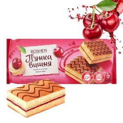 """Roshen"" Biscuit sponge ""Drunken Cherry""  300g/9pc"