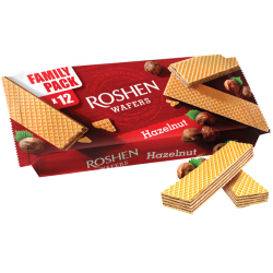 """Roshen"" wafer w/Hazelnut filling 216g/11pc"