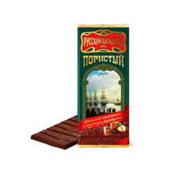 """Russian Chocolate"" Milk  Airated w/Nuts  90gr/10pc"