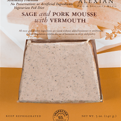 Sage and Pork Mousse With Vermouth 5oz/6pc