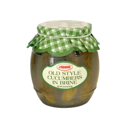 """Square"" Old Style Cucumbers in Brine  670gr/4pc"