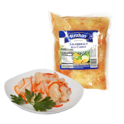 """KRAKUS"" Sauerkraut With Carrots 907gr/10pc plastic bag"