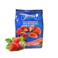 GINGERBREAD W/Strawberry in Chocolate  160gr/12pc