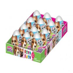 "Surprise Egg With Fruit Flavored Mini Dragee Candy ""Lovely Dogs""  20gr/12pc"