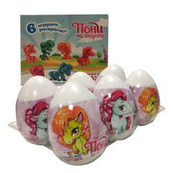 "Surprise Egg With Fruit Flavored Mini Dragee Candy ""Lovely Pony""  20gr/12pc"