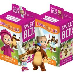 """Sweet Box"" Masha and Bear  10gr/10pc"