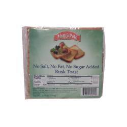 Toast Sugar Free/ No Salt  220gr/18pc