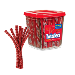 TWIZZLERS STRAWBERRY TWISTS CANISTER 180CT