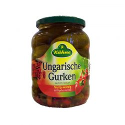 Ungarische Gurken (paprika and chili)  670gr/12pc