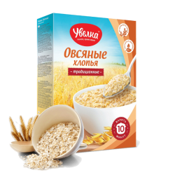 """UVELKA"" #850 OATMEAL TRADITIONAL INSTANT 5x40gr/6pc"