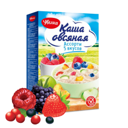 """UVELKA"" #777 OATMEAL INSTANT BERRIES AND FRUIT MIX 5x40gr/6pc"