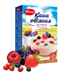 """UVELKA"" #780 OATMEAL INSTANT FOREST BERRIES MIX 5x40gr/6pc"