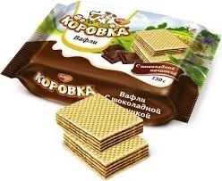 "Wafers ""Korovka"" Cocoa Filling  150gr/22pc"