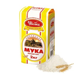 FLOUR WHEAT HIGH GRADE (PSHENICHNAYA) 2KG/6PC