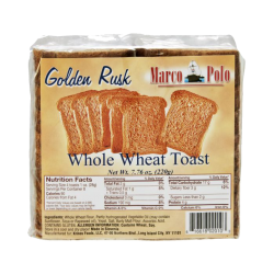 Whole Wheat Toast  220gr/18pc